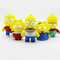 Wholesale Cute High Quality Cartoon Simpson Family Home USB Flash Drive Memory Stick Flash Pendrive real GB GB GB G G