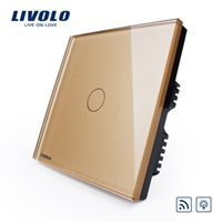 Wholesale livolo switch dimmer remote control switch wall switch gold VL C601DR
