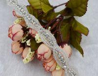 Wholesale Sold By Yard Fashion Clear Rhinestone Applique Trims For Wedding Dress Gowns Child Headwear DIY Wedding Decoration Applique AccessoriesC09
