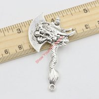 antique hatchets - 2pcs Antique Silver Plated Ax Hatchet Charms Pendants for Jewelry Making DIY Accessories Handmade x33mm Jewelry making DIY