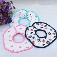 air cloth - 2015 Fashion New Air Cotton Water Proof Octagon Infant Bib Snap Fastener Baby Boys And Girls Burp Cloths Colors