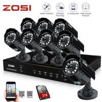al por mayor 8ch seguridad de la cámara hdmi-ZOSI HDMI 8CH 960H DVR 1 TB HDD 8pcs 800TVL HD CMOS IR CUT noche impermeable al aire libre Bullet Cámara de Seguridad Sistema de vigilancia de la cámara