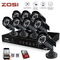 Wholesale ZOSI HDMI CH H DVR TB HDD TVL HD CMOS IR CUT Night Waterproof Outdoor Bullet Home Security Camera Surveillance System