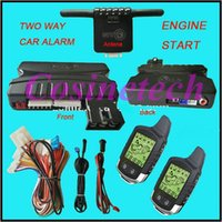 automatic alarm system - NEW keyless FM LCD alarm remotes with voice remind TWO WAY Automatic window rising car alarm system with engine start