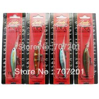 crappie jigs - 3D Minnow Fishing Lure Lucky Craft Hard Bait Fresh Water Deep Water Bass Walleye Crappie Minnow Fishing Tackle