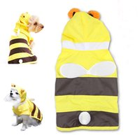 bee teddy - Cute Bee Design Large Big Dogs Raincoat Pets Waterproof Poncho Costume Puppy Doggie Capes Rainjacket Outdoor clothes for Chihuahua Teddy