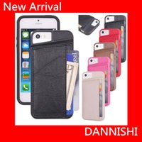 Cheap Arrival Cover 2015 Factory direct sale Shockproof TPU +Leather Credit Card ID Holder Wallet Case Cover for iPhone 5 5S Luxury Wallet Card