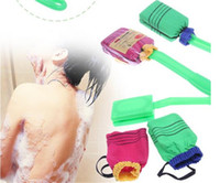 bath and body brushes - 2015 Korea And Japanese Bath Shower Massager Scrubber Spa Body Back Wash Brush With Handle
