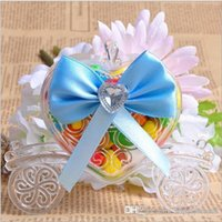 Wholesale Carriage Favor Boxes Candy Box Rose Wedding Candy Box Carriage with Bow Wedding Gifts For Guests Wedding Souvenir Supplies