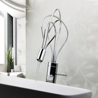 Wholesale Cool Design Bathroom Accessories All copper Fashion Art LED Bird s Nest Lavatory Faucet Kitchen Basin Taps Bathroom Sink Faucet