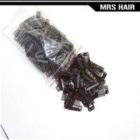 Wholesale 100pcs cm hair snap wigs snap clips for machine wefted clip weaving extensions medium professional salon accessories
