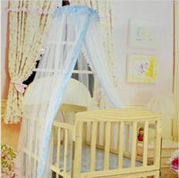 Cheap hot sales Deliacte Summer Baby Bed Mosquito Mesh Dome Curtain Net for Toddler Crib Cot Canopy Jun9 Hot Selling