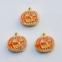 Halloween pumpkin - halloween pumpkin charms3 floating charms for living locket