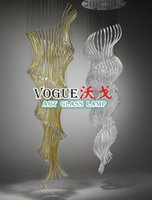 Wholesale Pendant Lights Suspension Luminaire Unique Design Murano Glass Led Chandelier Sculpture Fashionable Pendant Art Lamp Modern Crystal Lighting