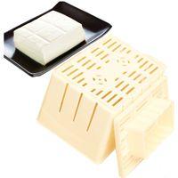 Wholesale 1Pcs Yellow Tofu Press Maker Mold Box Plastic Soybean Curd Making Machine Home Kitchen Tools Supplies