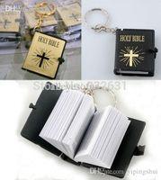 bible keys - One PC New HOLY BIBLE Religious Christian Jesus Book Keychain Key Chain Keyring Key Ring Chaveiro Gift Souvenir Llaveros L000555
