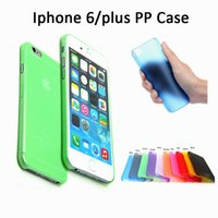 PP pc case - For iphone Plus S s Case Ultrathin High Quality Ultra thin crystal Clear PP pc case iphone6 transparent Gel cases DHL shipping