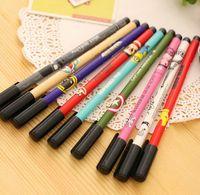 Wholesale Gel pen Cartoon print pen for writing kawaii stationery papelaria caneta Office material escolar school supplies