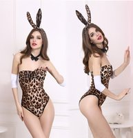 adult leotard - Sexy bunny girl temptation leopard leotard Bar nightclub uniforms adult game couple flirting sexy lingerie