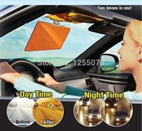 Wholesale TV Recommended Day Night Car Clear Vision Visor Dazzling View Day and Night Anti vertigo Mirror Solar Panels Dazzling order lt no track