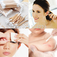 Wholesale New Double head Wooden Cotton Swab Tip For Medical Cure Health Make up Sticks