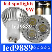 Wholesale x Promotion Retail High power CREE W x3W GU10 MR16 E27 Led Light Lamp Spotlight Led Bulb