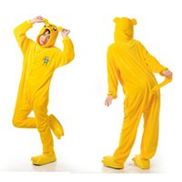 Wholesale Adventure Time Jake Animal Onesies Pajamas For Adults Cute Onesies Kigurumi Pyjamas Funny Halloween Animal Costumes