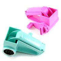 Wholesale 1Pc Random Color Kitchen Cooking Tools Plastic Stainless Steel Cheese Grater Slicer