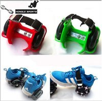 Wholesale Sporting Pulley Lighted Flashing Wheels Heel Skate Rollers Wheel Shoe Flashing Roller Skate Shoes with Wheels