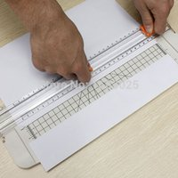 plastic ruler - New White A4 Guillotine Alignment Ruler Daily Typical Paper Label Cutter Trimmer Black Orange Plastic Cutter