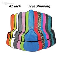 Wholesale New Add cotton mm Guitar Bag Gig Bag Electric Guitar Case Gitar Acoustic Strap INCH colors