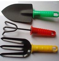 garden shovel - 3Pcs Mini Garden Hand Tool Kit Plant Gardening Shovel Spade Rake Trowel Plastic Handle Metal Head Gardener