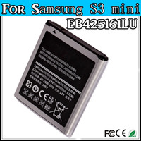 Wholesale S3 Mini battery For Samsung S3 Mini Galaxy S3 Mini i8160 i8190 Phone Battery Bateria akku