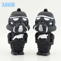 Wholesale Real Capacity Star War Funny Robot USB Flash Drives GB USB Pendrive GB External Storage Usb Stick Pendrives DHL