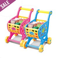 Wholesale Mini Children Supermarket Shopping Cart Toys Set Learning Combination Assembled Plastic Toys for Kids cm Fast Shipping