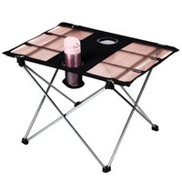 Wholesale Ultralight Outdoor Table Aluminium Alloy Portable Foldable Table Table Desk for Camping Picnic Travel Fishing BBQ Y0928