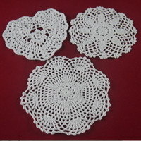 bamboo garden design - handmade Crocheted Doilies White Design lace cup mat vase Pad Round coaster cm Home Garden table mat tmh368