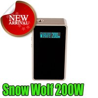 abs snow - 100 Authentic Snow Wolf W Box Mod E Cigarette for battery Snow Wolf Box Mod vs ABS Sigelei W
