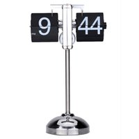 antique small metal table - Small Scale Table Desktop Clock Hand made Scalable Retro Gear Operated Flip Down Clock Stainless Steel Retro Personalized Clock order lt no