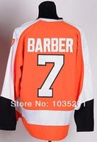 barber logos - 30 Teams Bill Barber Jersey Ice Hockey Jersey Sport Jersey Best quality Embroidery logo Size M XXXL Accept Mix Order