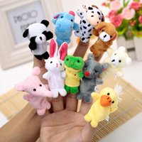 Wholesale 10Pcs set Cartoon Animal Finger Puppet Finger Toy Finger Doll Baby Dolls Baby Toys Animal Doll