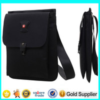 Wholesale 2015 Swissgear Laptop Bags High Density Nylon Thin iPad Bags Waterproof Durable Shoulder Bags Messenger Bag L