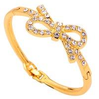 10k gold bracelet - Yazilind Jewelry High Quality Ribbon Shape With k Gold Plated Alluring Bracelet Set Fashion Bangle Alloy For Women