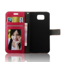 For Samsung alpha picture - 10pcs Crazy Horse Mad Leather Pouch Wallet case For Samsung Galaxy Alpha G850F G8508s Credit card Photo Picture Frame Stand skin Cover
