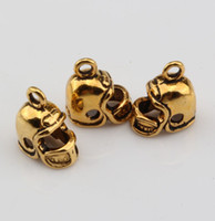 antique football helmet - MIC Antique gold D Small Football Helmet Charms pendants DIY Jewelry x11mm