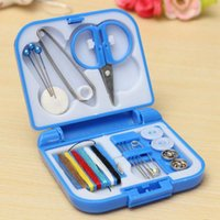 Wholesale Portable Mini Travel Sewing Box Home DIY Tools With Color Needle Threads Sewing Kits Convenient Sewing Set