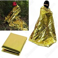 Wholesale New Waterproof Emergency Survival Foil Thermal First Aid Rescue Blanket Tent HE
