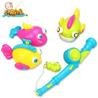Wholesale Outdoor Fun Sports Learning Education Fishing Gift Bath Time Magnetic Fishing Toy Model