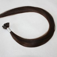 Cheap flat tip hair extensions Best flat tip hair brown 0.8g