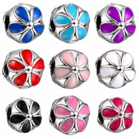 big safety - Fashion European Charms Flower Stop Safety Beads Big Hole Loose Beads charm For DIY Jewelry Bracelet For European Bracelets SF30